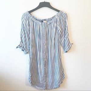 Cloth and Stone Stripe Off Shoulder Dress/Tunic